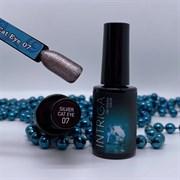 Гель-лак INTRIGA 11D №7 темное серебро 10мл